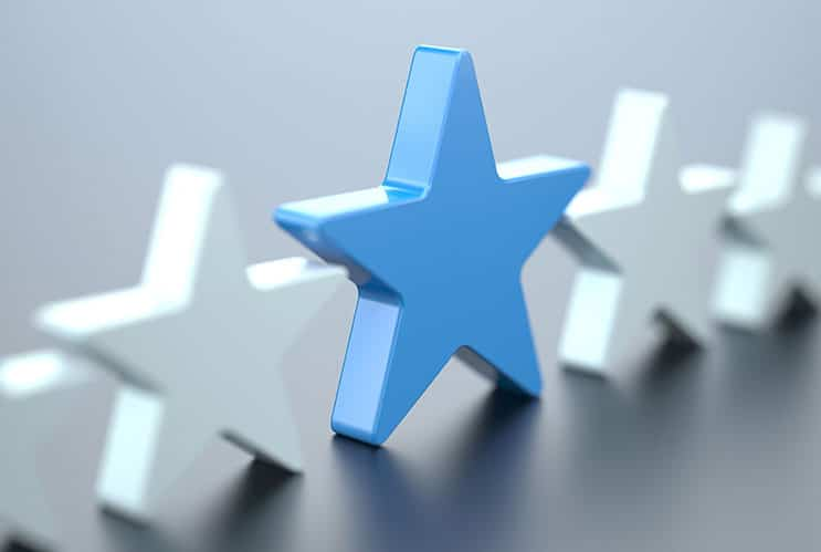 White and blue stars
