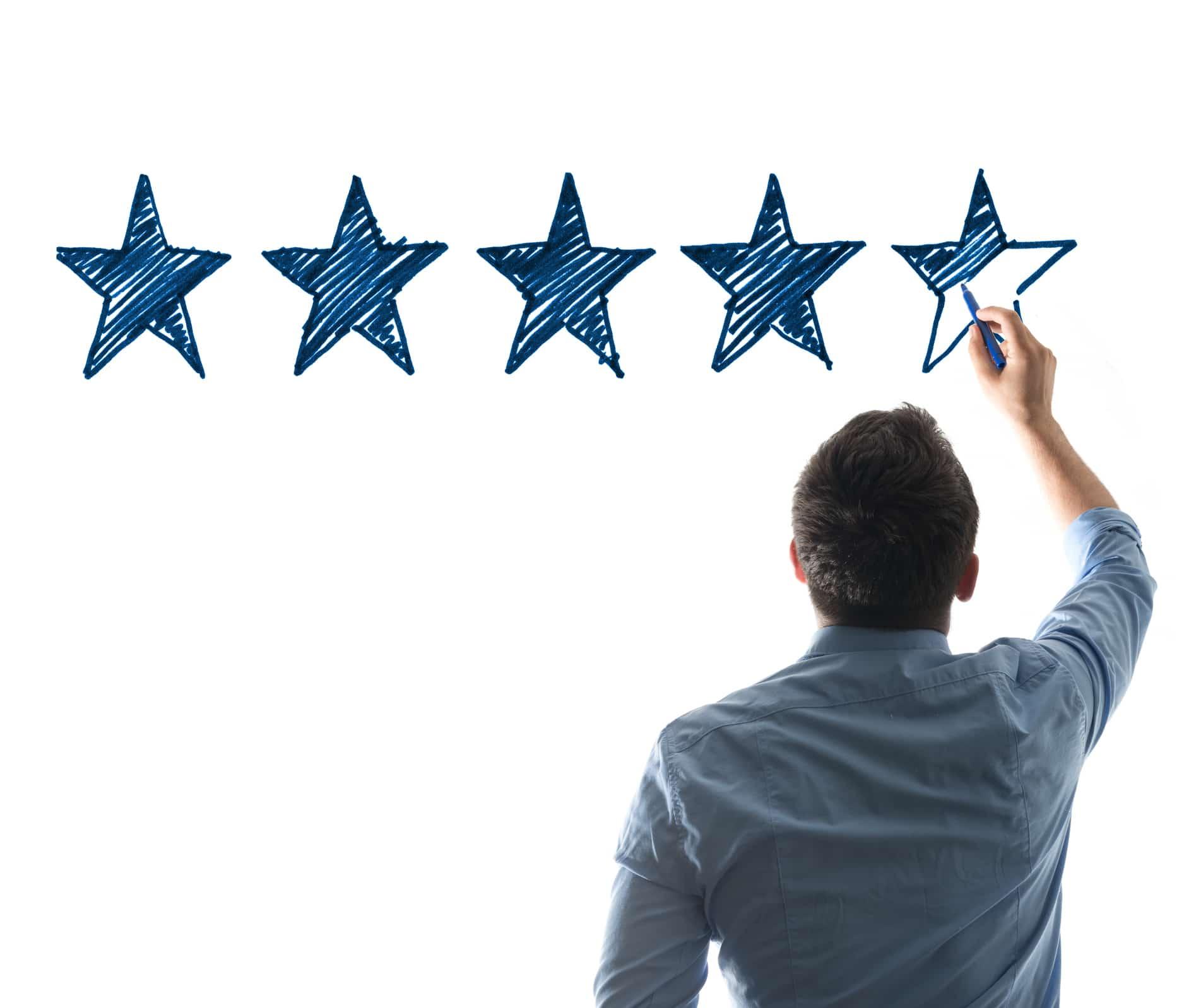 Man drawing stars