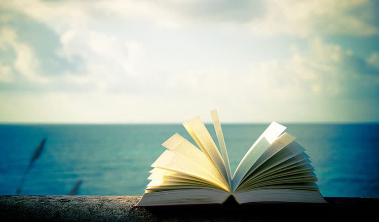 Open book at the beach