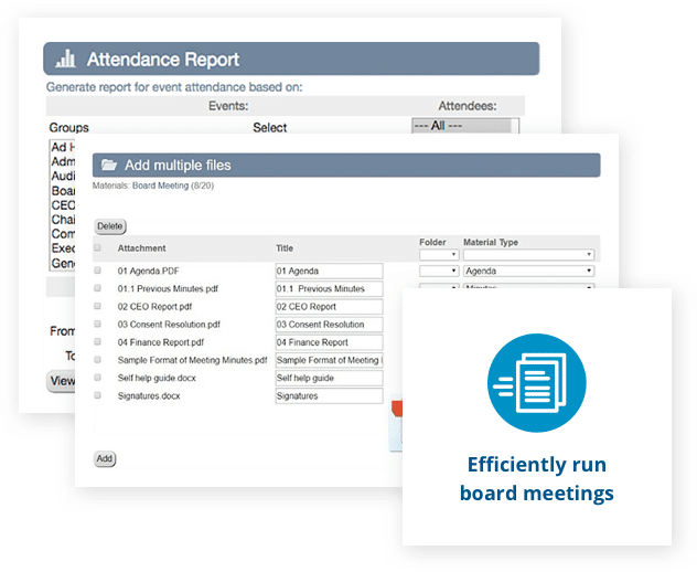 Efficiently run board meetings with Aprio board portal software