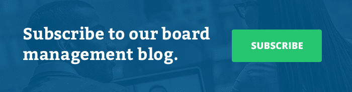 Subscribe to our board management blog
