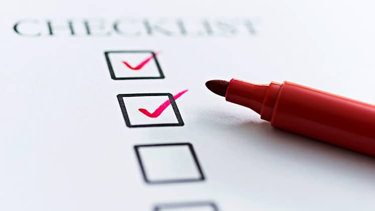 Board meeting preparation checklist
