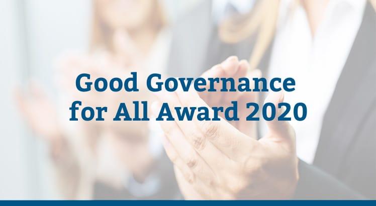 Good Governance for All Award 2020