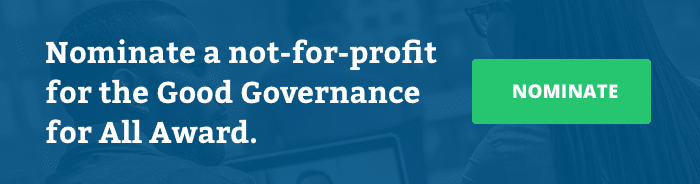 Nominate a not-for-profit for the Good Governance for All Award