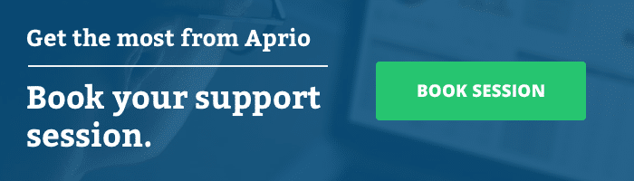 Book your Aprio support session now.